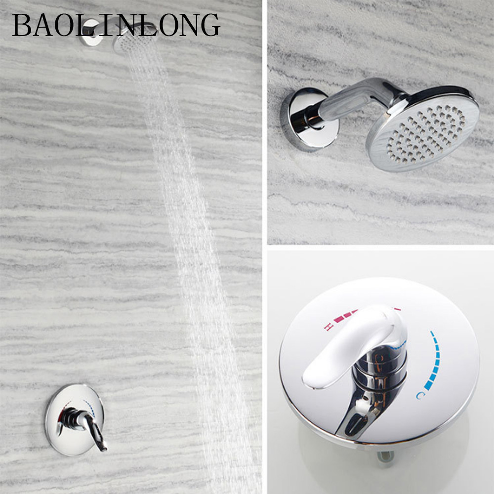 BAOLINLONG News Styling Brass Bathroom shower faucets mixer tap rainfall shower wall torneira showerBAOLINLONG News Styling Brass Bathroom shower faucets mixer tap rainfall shower wall torneira shower