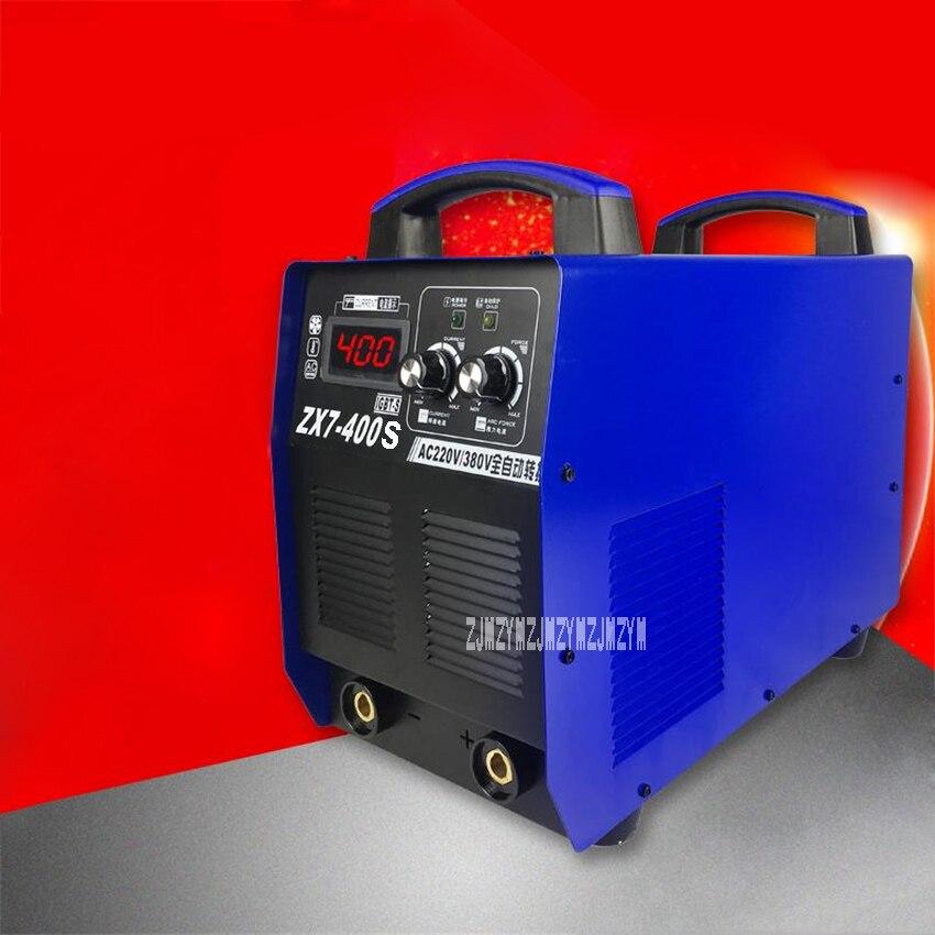 ZX7-400S Elektrische Schweißer Dual Spannung Schweißen Maschine Tragbare Industrie Typ Elektrische Schweißen Maschine 220 V-380 V 50/ 60Hz 8.4KVA