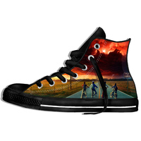 2019 Fashion Stranger Things Print Funny Men Sneakers 3D Character Design Mens Casual shoes Summer Hipster High top loafers