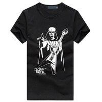 Men Darth Vader Heavy Metal Printing Designer Funny T Shirts Short Sleeve Tee Creative Fashion Star