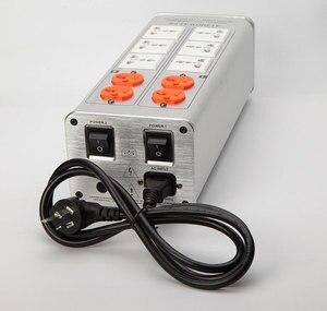 Image 5 - 2020 AUDIOWALLE TP1000 yeni güç arıtma güç filtresi ses fişi LED voltaj göstergesi