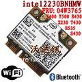 Laptop notebook wireless lan card  for  Lenovo Thinkpad Intel 2230 04W3765 Y400 Y500 X230 T430 Wlan card Bluetooth 4.0 WIFI 300M