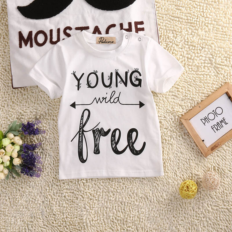 Casual Baby boy t-shirt short sleeve kids t-shirt cotton Tops Tees 0-5years