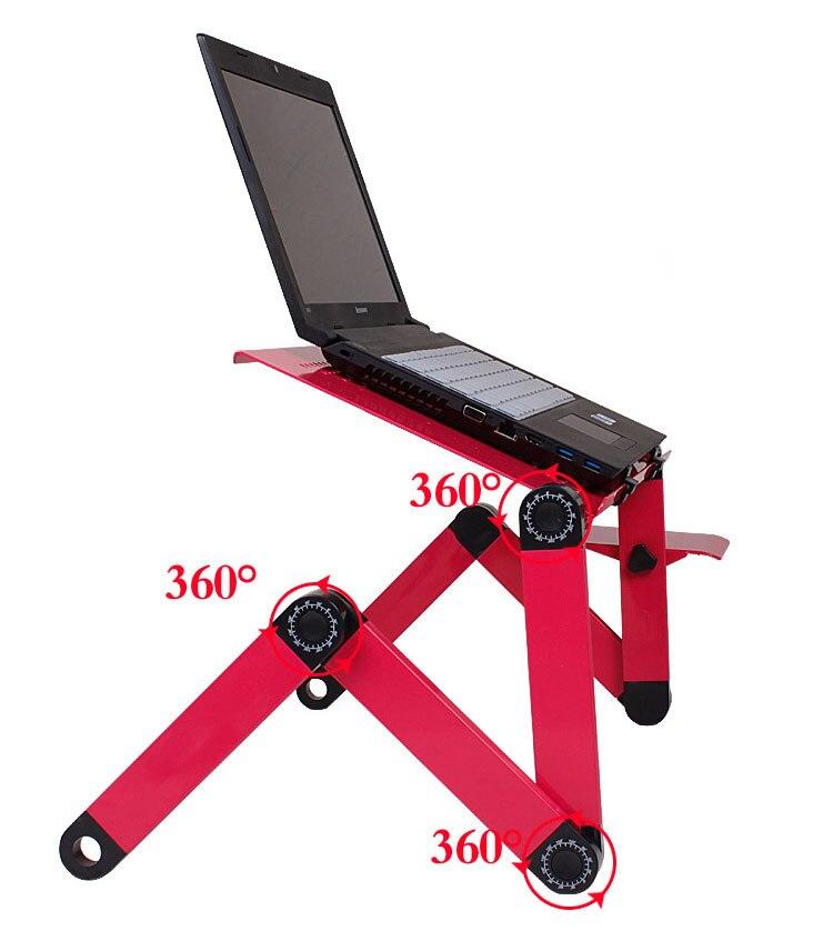 Schwarz Rot Aluminium Lapdesk Ergonomische Faltbare Laptop Tisch Notebook  Computer Schreibtisch Mit Mausablage Für Mit Zu Bett Sofa In Schwarz Rot  Aluminium ...