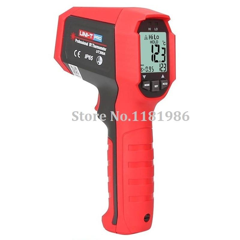Laser senza contatto Digitale termometro a infrarossi professionale UNI-T UT309A-35 ~ 450C (-31 ~ 842F) Themperature pirometro IR LaserLaser senza contatto Digitale termometro a infrarossi professionale UNI-T UT309A-35 ~ 450C (-31 ~ 842F) Themperature pirometro IR Laser