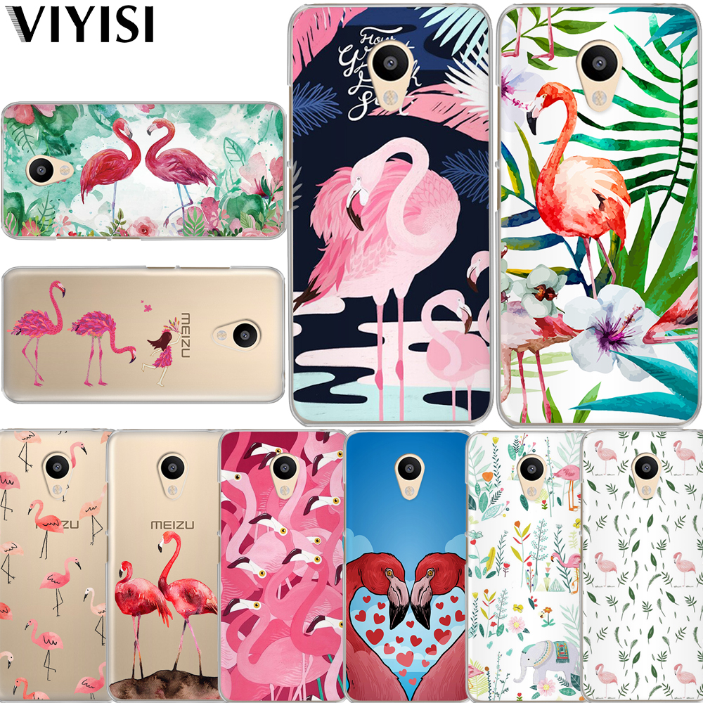 VIYISI Flamingo For Meizu U20 10 M6 5 Note M5S 5C M3s 3Note Pro6 Soft TPU Painted Phone Case Coque