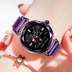 Новая мода Смарт часы для женщин 3D Diamond стекло сердечного ритма приборы для измерения артериального давления сна мониторы браслет Best под