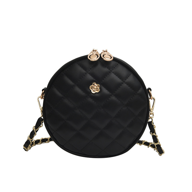 Female Crossbody Round Bags For Women 2019 Quality PU Leather Luxury Handbags Designer Sac A Main Ladies Shoulder Messenger Bag in Shoulder Bags from Luggage Bags
