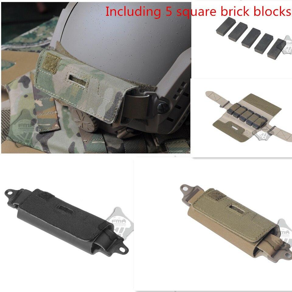 Prix pour Ops-core Style Rapide Contrepoids Arrière RAPIDE Casque Accessoire Sachet Comprenant 5 carré brique blocs Rivaliser kit