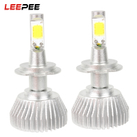 LEEPEE 2pcs Conversion Light H7 All In One Head Light Unviersal COB Car LED Headlamp C6