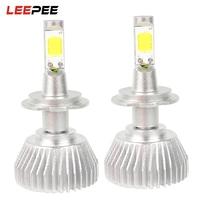 LEEPEE 2pcs Conversion Light H7 All In One Head Light Unviersal COB Car LED Headlamp C6