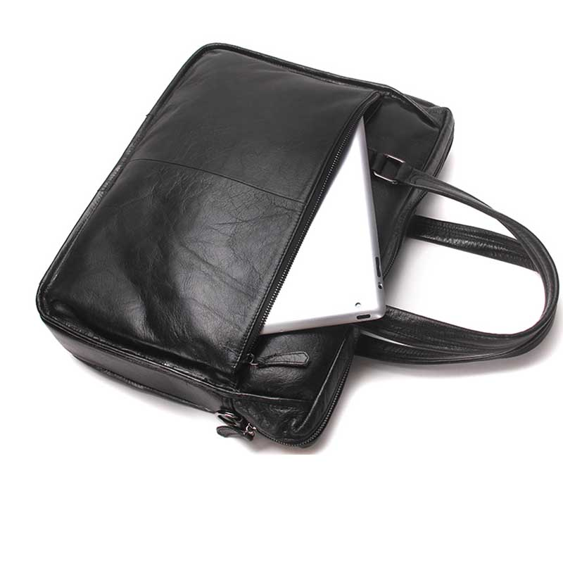 En Cuir D'affaires Black Décontractée Luxe Coréenne De Rétro Version Portable Sac Mallette L'épaule Messager Nouveau Qualité FnHAqa4
