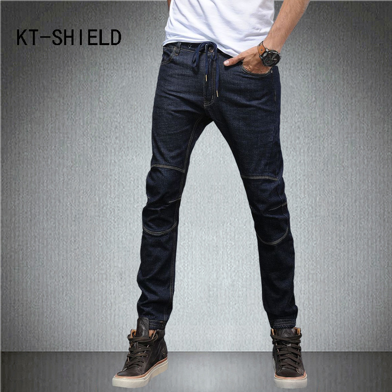 famous brand mens jeans black Fashion Slim straight Denim Pants Trousers hombre ripped biker motorcycle Cotton calca masculina 2017 fashion patch jeans men slim straight denim jeans ripped trousers new famous brand biker jeans logo mens zipper jeans 604