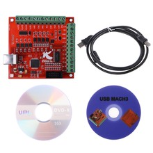 Good Quality CNC USB MACH3 100Khz Breakout Board 4 Axis Interface Driver Motion Controller(China)