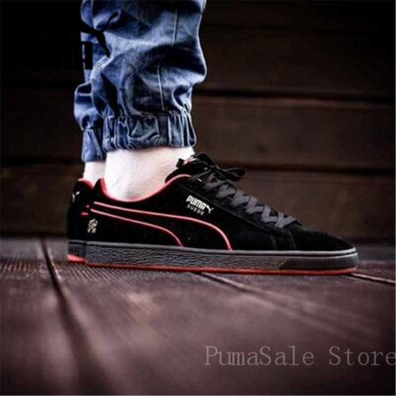 d1de5e64356e ... PUMA X FUBU 05 Suede Classic Mens Black Women Sports Sneakers Men 50th  Anniversary Edition 366320 ...