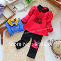 Free shipping Retail new arrival 2013 spring autumn Baby suit baby girl casual cute rabbit sweatshirt t-shirt trousers 2pcs set