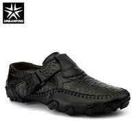 Ручной работы из кожи повседневные мужские туфли Элитный бренд мужские лоферы модная дышащая обувь для вождения слипоны Мокасины