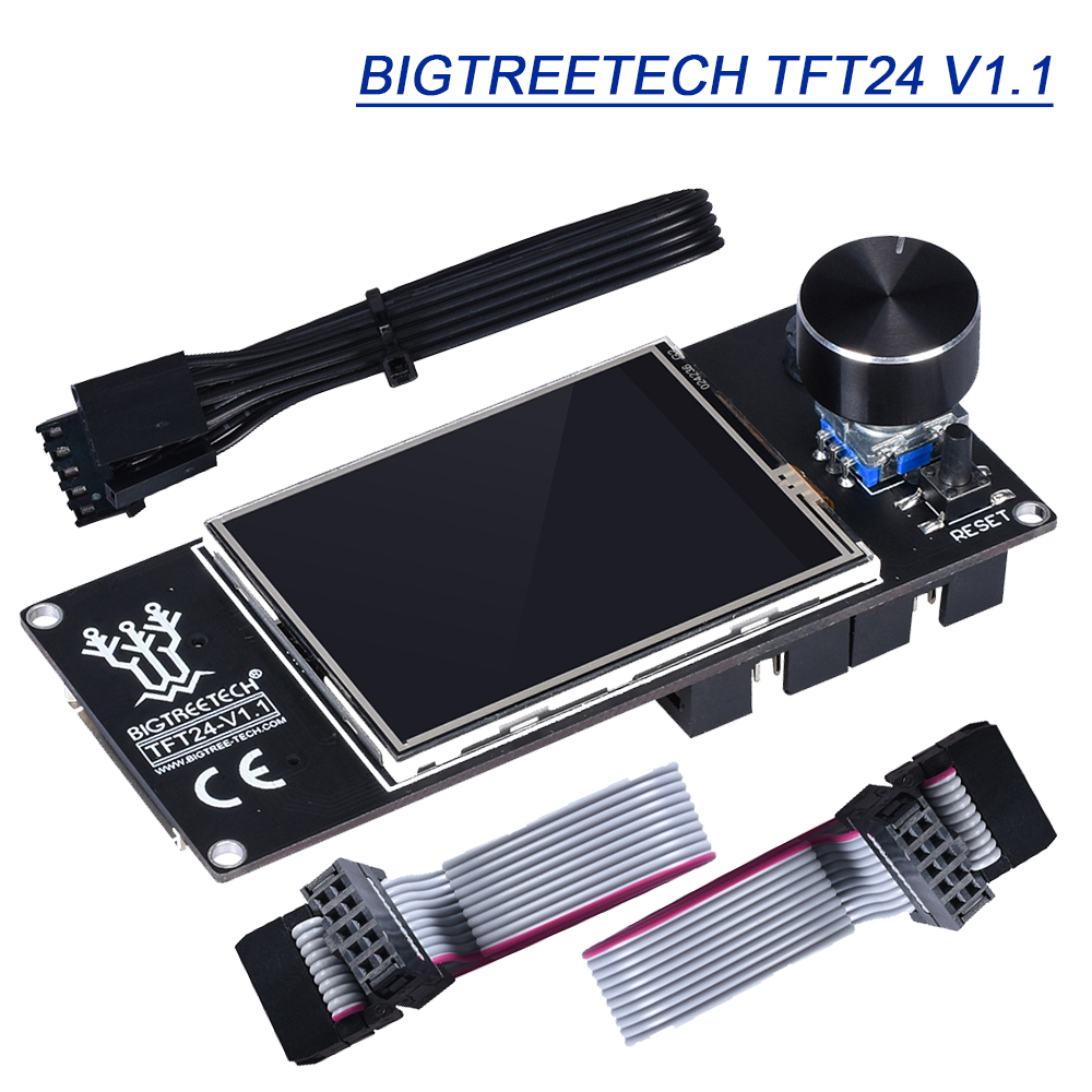 BIGTREETECH TFT24 V1.1 Touch Screen 12864 LCD Modes DIY Marlin 3D Printer Parts SKR V1.3 For Ender 3 UART Serial 5V Panel TFT35