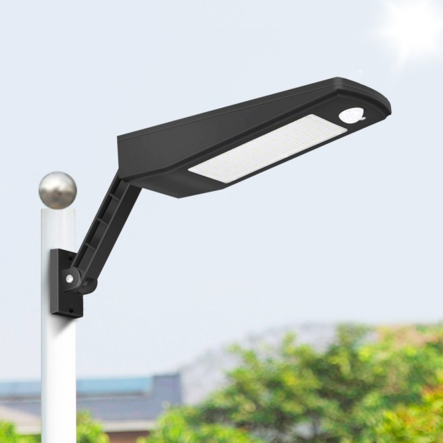 Led Street Light Pole Motion Sensor Solar Garden Wall Lamp Waterproof Outdoor Path