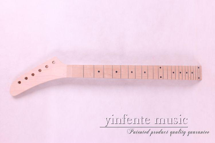 ONE pcs 25.5 24 fret   New high quality Unfinished electric guitar neck maple  made maple fingerbozrd dot inlay new electric guitar neck maple 24 fret 25 5 truss rod unfinished no frets nice