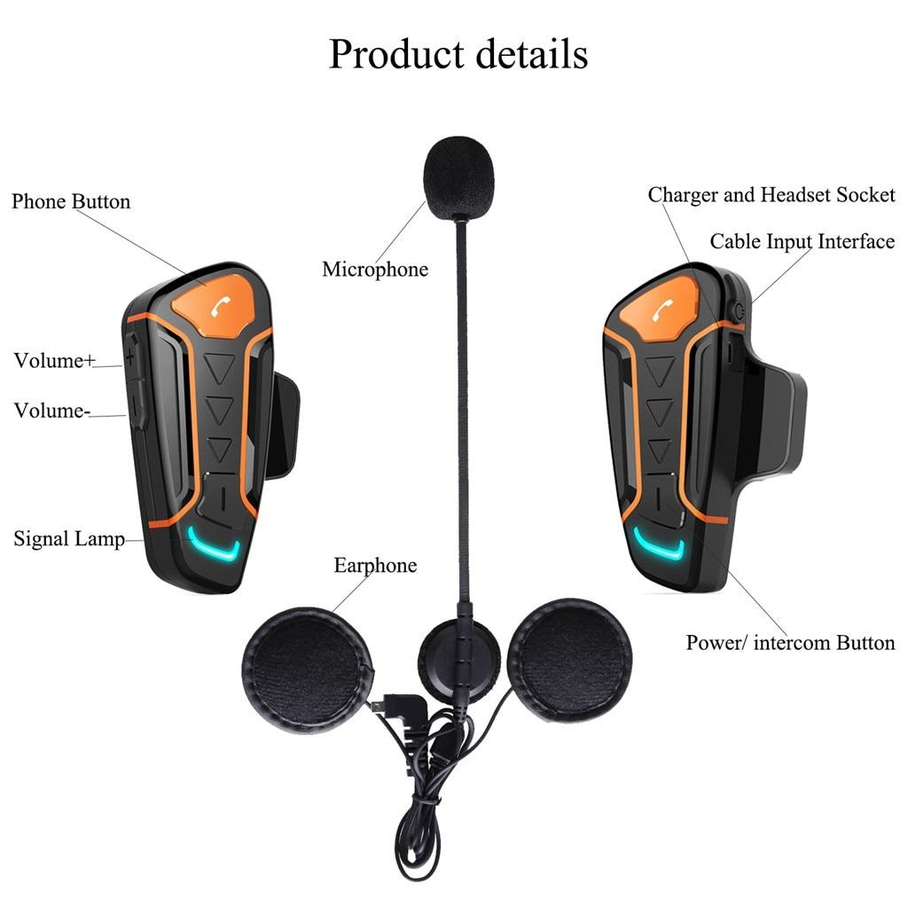 Mini Wireless Bluetooth Headset Noise Reduction Motorcycle Helmet Motorcycle Bluetooth Headset Communication System Wireless New