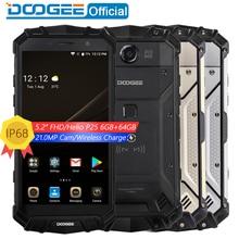 "Настоящее IP68 Doogee S60 Беспроводной Charge 5580 мАч 12V2A Quick Charge 5.2 ""FHD helio P25 Восьмиядерный 6 ГБ 64 ГБ смартфон 21.0MP Камера"