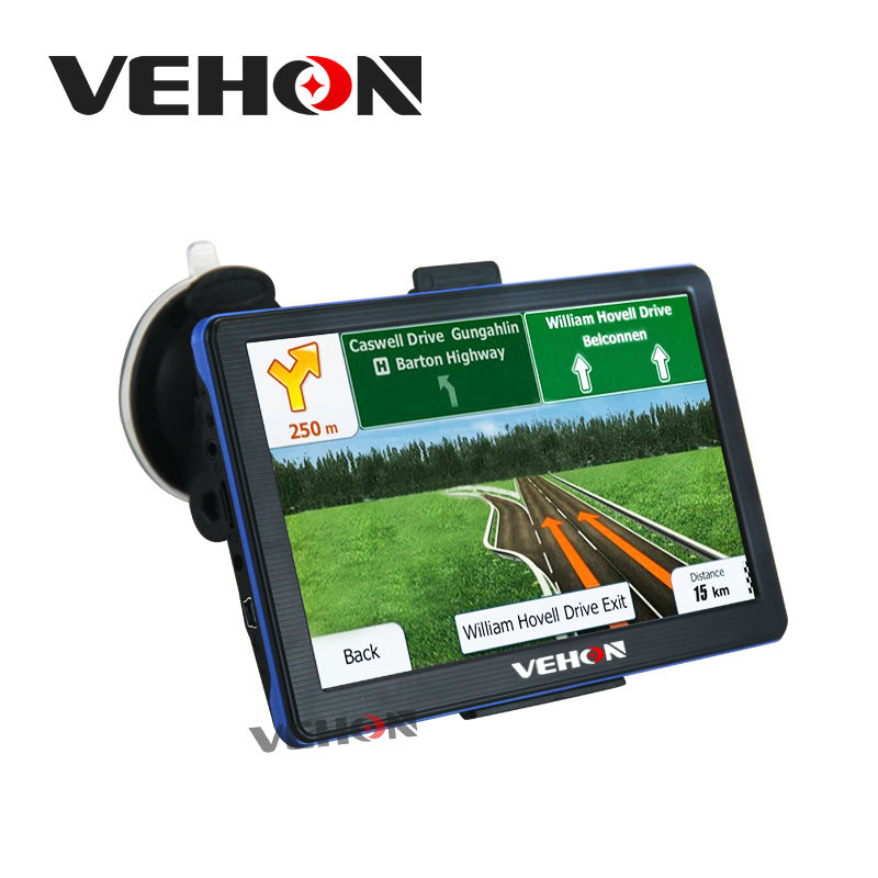 VEHON Car Navigator 7 inch Bluetooth and AVIN 256MB 8GB Built-in FM with  Capacitive Screen Russia&Europe Truck Gps Navigation