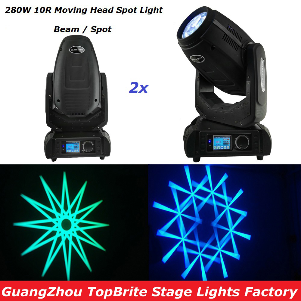Hot Sales 2XLot Sharppy 280W 10R Beam Spot Moving Head Wash Effect Stage Light With DMX DJ Disco For Stage Laser Light Equipment free shipping hot sales 2pcs lot 19x12w led beam wash moving head light with dmx512 for professional stage dj laser projector