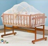 Многофункциональный кроватки твердой древесины Колыбель шейкер Детская кровать