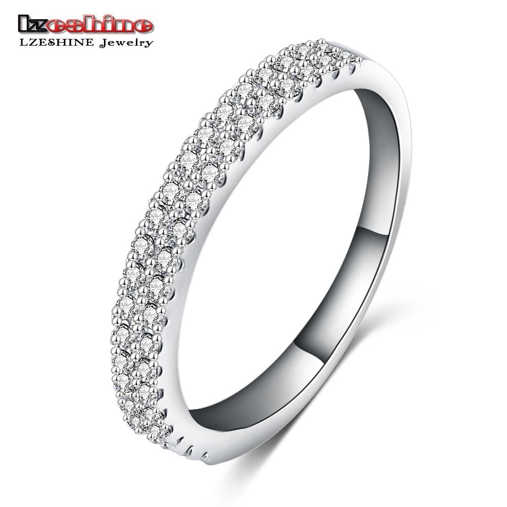 lzeshine hot unique design wedding ring real silver color austrian crystal swa element women jewelry cri0120