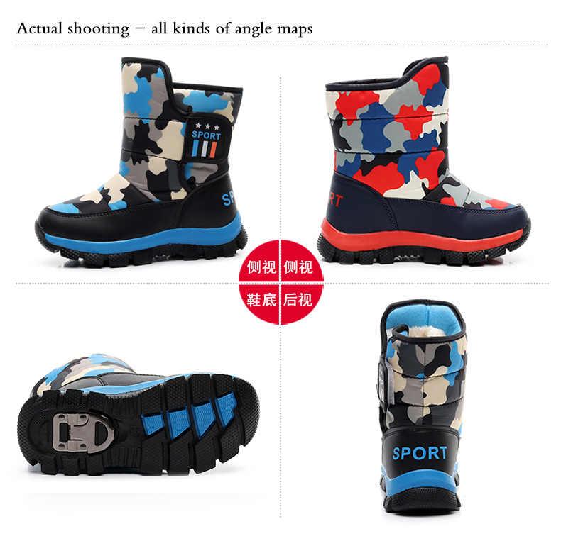 Çocuk botları erkek kar botları kızlar su geçirmez çocuk ayakkabıları erkek kış sıcak bebek ayakkabıları öğrencileri moda çocuk ayakkabıları çocuklar