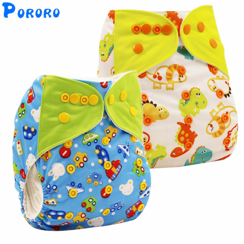 Washable Baby Cloth Diapers Nappy Cover Wrap Baby Boys Girls Print Reusable Baby Cloth Diapers Pocket Diaper