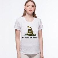 2017 Moda kawaii T Shirt ÜZERINDE HIÇBIR ADıM SNEK Mektup tasarım Rahat Kısa Kollu O-Boyun T-Shirt ve kadınlar için tops L6-26 #