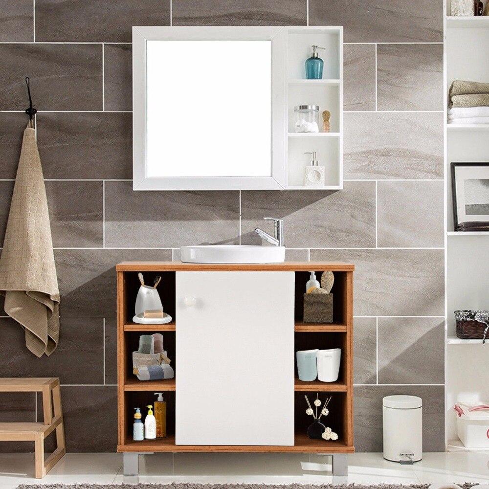 Giantex Under Sink Cabinet Bathroom Spacesaver Storage Cabinet 6 Cube Vanity Organizer Modern Bathroom Furniture BA7403 2