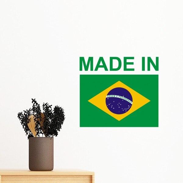 Hecho en Camboya Brasil bandera Bulgaria Canadá país removible amor pared calcomanías arte Mural DIY papel pintado para habitación
