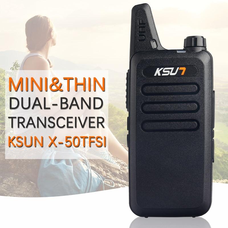 bilder für Walkie talkie KSUN X-63TFSI Ham Funkgeräte walkie talkie Dual Band Transceiver BUXUN X-63 (Schwarz)