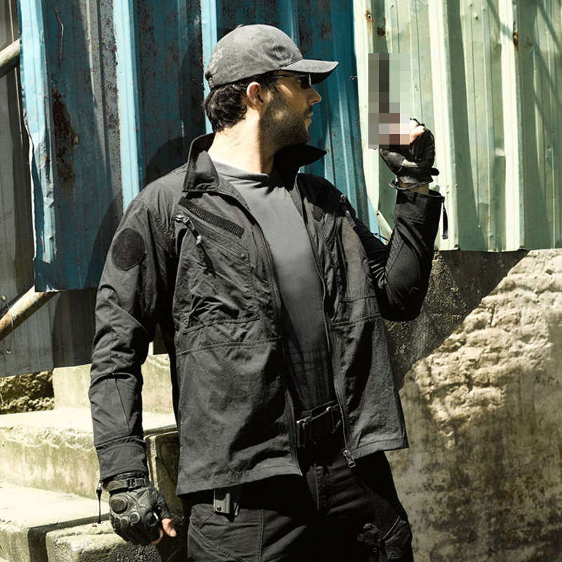 Tactical Urban Airsoft Jacket Men Spring Autumn Outdoor Military Paintball Coat for SWAT War Game Training Lifesaving EDC Trench protective outdoor war game military tactical full face shield mask black