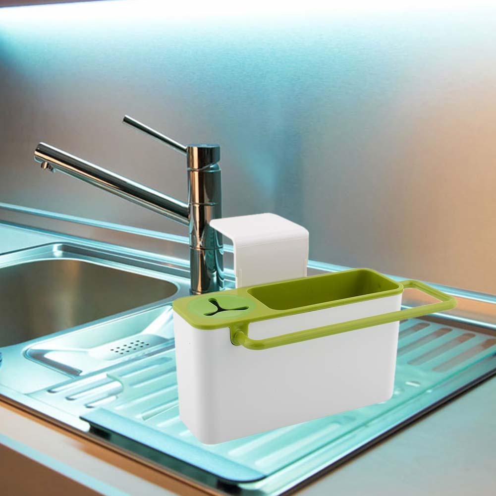 Suction Cup Base Kitchen Brush Sponge Sink Draining Towel Rack ...