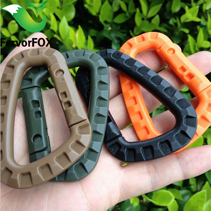1PCs Mini Climbing Carabiner Clip Edc Tool Outdoor Camping Carabiner Equipment Militery Survival Kit Edcgear გადაუდებელი 4 ფერი