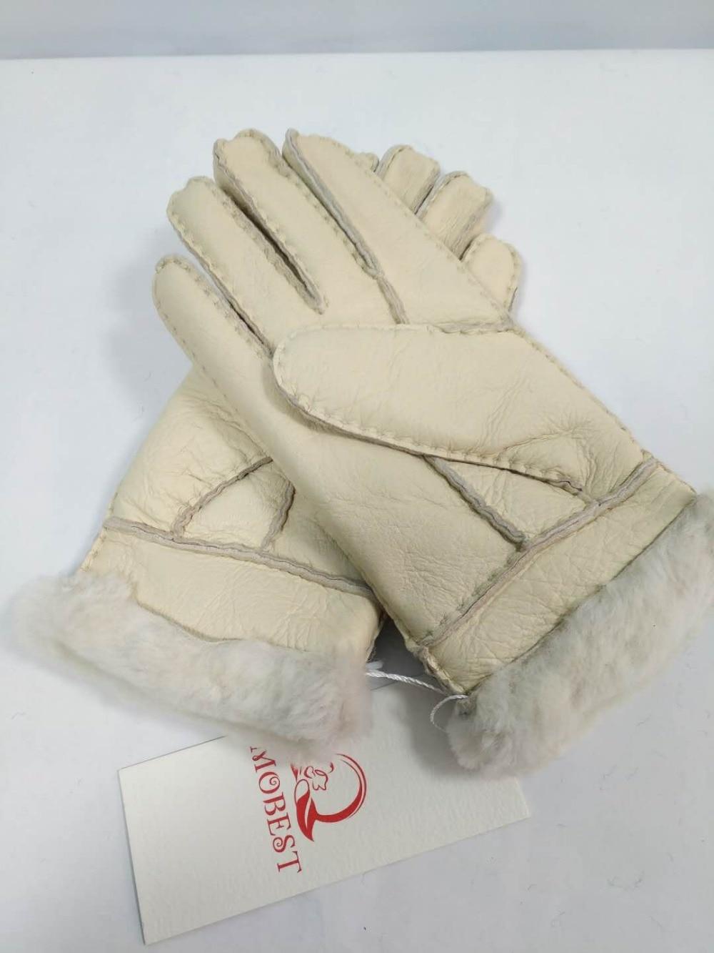 Для женщин утолщаются супер тёплая осенне-зимняя обувь Genius из кожи, из шерсти овчины Открытый лыжи для верховой езды палец плюс бархат Перча...