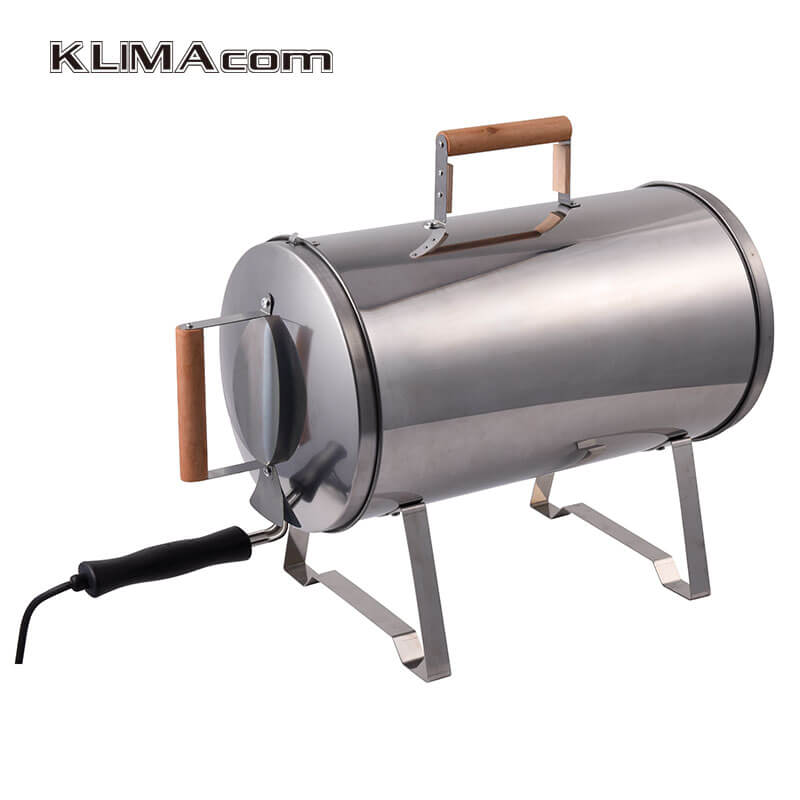 Electric Portable barbecue grill for outdoor Pipe/Cylinder Smokers for home BBQ Cooking Appliance Hot Smoking 1100W