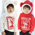 children autumn and winter onta baby boys clothing girls clothing deer winter fleece with a hood sweatshirt outerwear hoodies