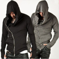 New Mens Hoodie Sweatshirt Fashion Top Striking Unbeatable Style Arm Warmer Sportswear Diagonal Zip-up Hooded
