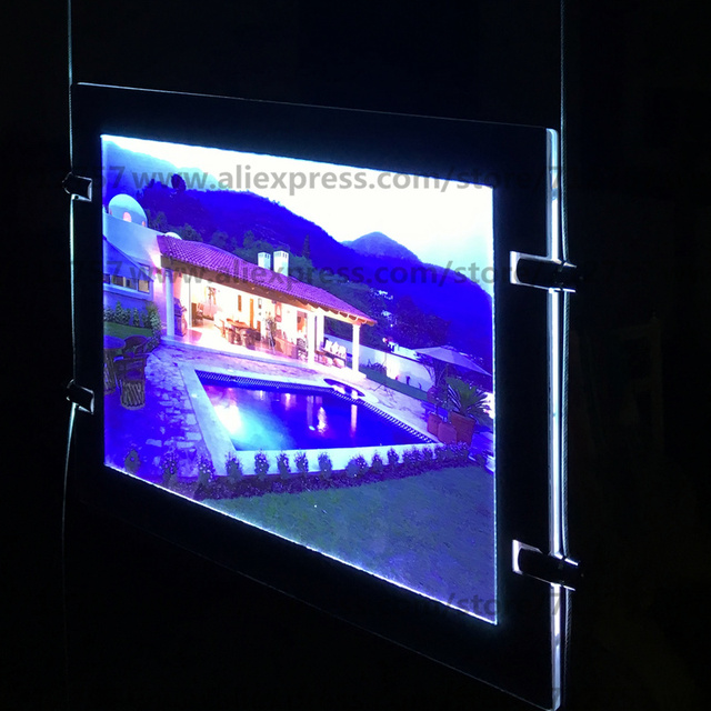 24pcs A4 Single Sided Magnetic Acrylic Frame Led Signs Light Panel Box Window Display Pocket For Real Estate Agent
