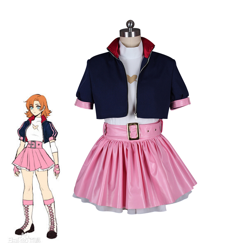 RWBY Nora Valkyrie Cosplay Costume Halloween Carnival Outfits Women's Casual Wearing Dress Custom Made Full set Jacket+Top+Skirt