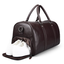 d6c5856ee8 New Brand Fashion Extra Large Weekend Duffel Bag Large 100% Genuine Leather  Business Men s Travel