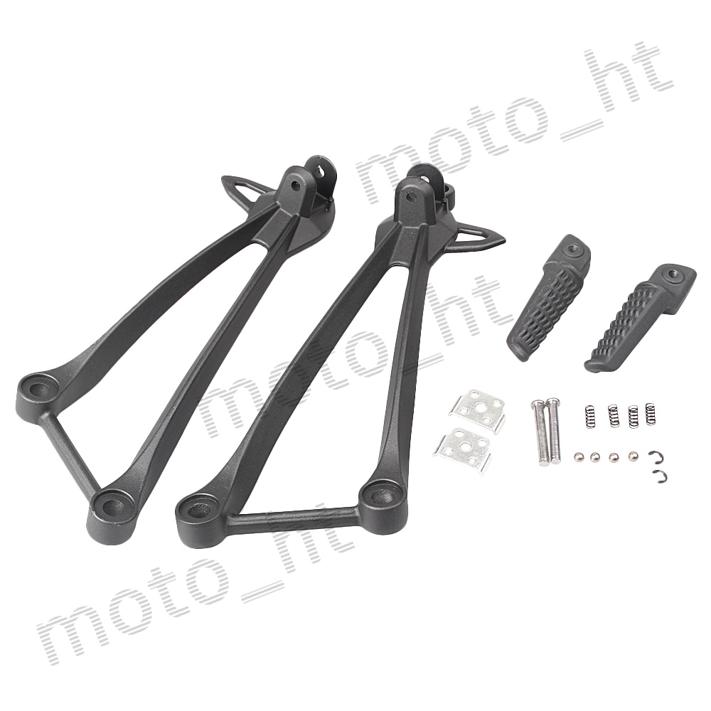 Aluminum Alloy Passenger Rear Foot Pegs Footrest Brackets For Kawasaki Ninja ZX10R 2008 2009 2010 Black