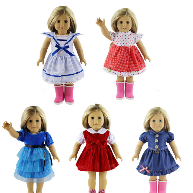 5 sets Stylish Doll Party Dress Clothes Outfits Pajames For 18 inch ...