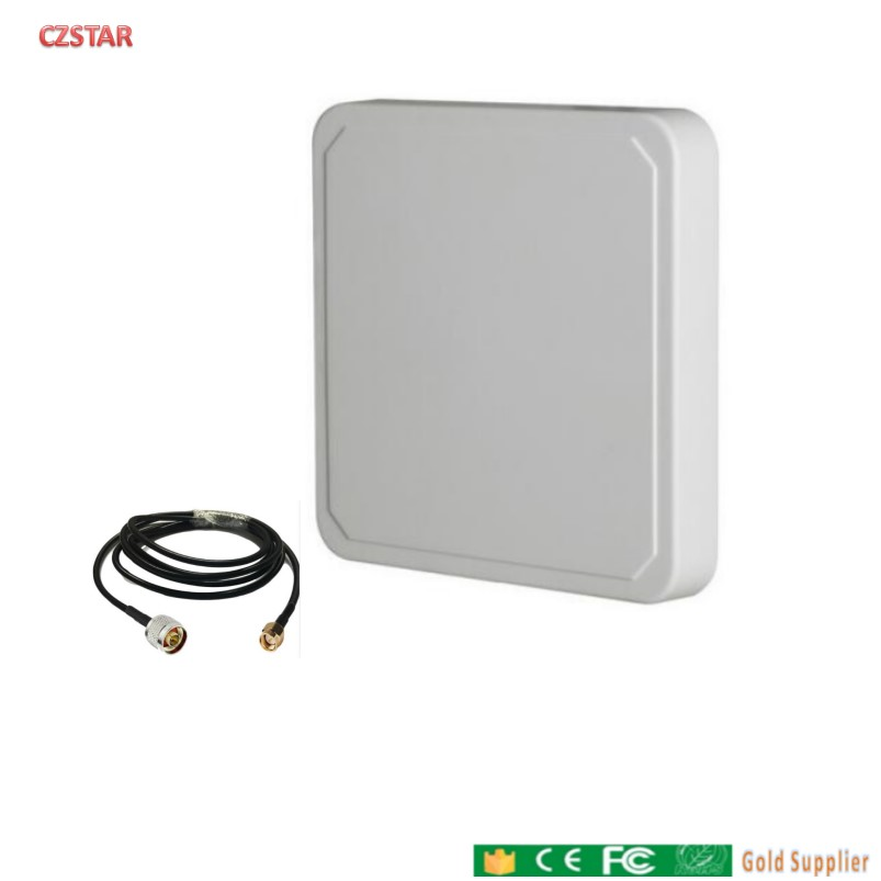 1-15meters Range Uhf Rfid Antenna IP67 Circular Polarization Waterproof UHF Reader Antenna 9dBi Gain For Sports Timing System