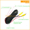 5M Car Reversing Camera Video Cable RCA With Spcial Reversing/Backup Detecting Wire #1492